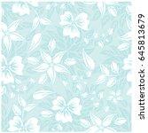 vector seamless pattern flowers ... | Shutterstock .eps vector #645813679