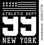 athletic varsity typography ... | Shutterstock .eps vector #645813778