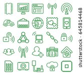 network icons set. set of 25... | Shutterstock .eps vector #645814468