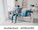 free time together. happy... | Shutterstock . vector #645816283