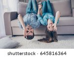 funny couple with glasses...   Shutterstock . vector #645816364