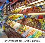 traditional turkish delights... | Shutterstock . vector #645818488