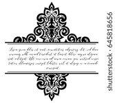 abstract art invitation card  | Shutterstock . vector #645818656