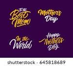 mothers day letterings set | Shutterstock .eps vector #645818689