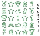 best icons set. set of 25 best... | Shutterstock .eps vector #645819580