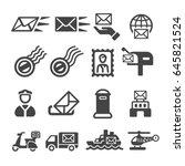 post postal service mail...   Shutterstock .eps vector #645821524