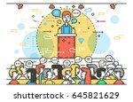 vector illustration orator... | Shutterstock .eps vector #645821629