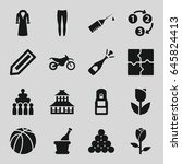 sketch icons set. set of 16... | Shutterstock .eps vector #645824413
