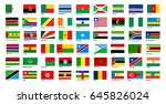set africa  flags | Shutterstock .eps vector #645826024