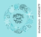 Summer Time Banner In Circle...