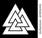 valknut symbol in black and... | Shutterstock .eps vector #645836443