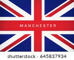 manchester word on united... | Shutterstock . vector #645837934