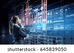 innovative technologies as...   Shutterstock . vector #645839050