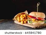 fast food. not a diet. homemade ... | Shutterstock . vector #645841780