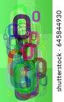 alphabet o background art | Shutterstock .eps vector #645844930