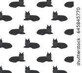 cats maine coon vector... | Shutterstock .eps vector #645845770