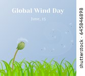 Global Wind Day Background Wit...
