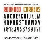 narrow sanserif font with... | Shutterstock .eps vector #645848893