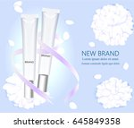 template and cosmetic design.... | Shutterstock .eps vector #645849358