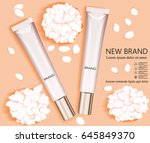 template and cosmetic design.... | Shutterstock .eps vector #645849370