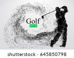 silhouette of a golf player.... | Shutterstock .eps vector #645850798