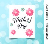 mother's day greeting card... | Shutterstock .eps vector #645851290