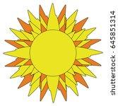 vector image sun icon. abstract ... | Shutterstock .eps vector #645851314