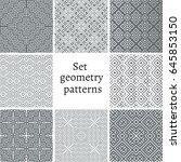 set of ornamental patterns for...   Shutterstock .eps vector #645853150