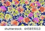 seamless floral design | Shutterstock . vector #645855013