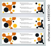 abstract colorful banners... | Shutterstock .eps vector #645855340