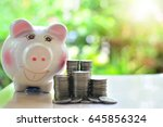 money saving for fund to...   Shutterstock . vector #645856324