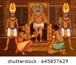vector design of egyptian... | Shutterstock .eps vector #645857629
