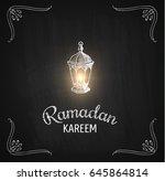 ramadan kareem vector... | Shutterstock .eps vector #645864814