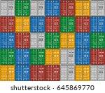 pattern shipping cargo... | Shutterstock .eps vector #645869770