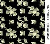 background seamless pattern in... | Shutterstock .eps vector #645872788