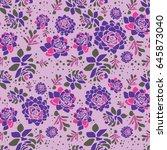 vector spring flower seamless... | Shutterstock .eps vector #645873040