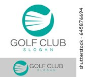 golf club logo | Shutterstock .eps vector #645876694