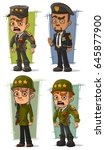 cartoon army general and... | Shutterstock .eps vector #645877900