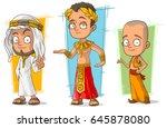 cartoon ancient arabian... | Shutterstock .eps vector #645878080