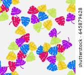 seamless pattern with colored... | Shutterstock .eps vector #645879628