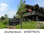 trapp family lodge  stowe ...   Shutterstock . vector #645879676