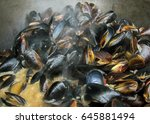 Fresh Mussels At Grill Pan....