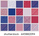 set of american patriotic stars ... | Shutterstock .eps vector #645882094