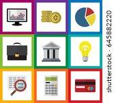 flat exchequer set of portfolio ... | Shutterstock .eps vector #645882220