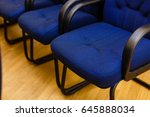 rows of chairs at a conference  ... | Shutterstock . vector #645888034