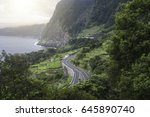 costal road to seixal  madeira  ... | Shutterstock . vector #645890740