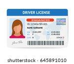 flat woman driver license...