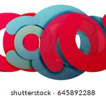 circle geometric abstract... | Shutterstock .eps vector #645892288