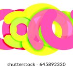 circle geometric abstract... | Shutterstock .eps vector #645892330
