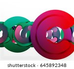 circle geometric abstract... | Shutterstock .eps vector #645892348